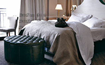 Bedroom at Cape Grace, luxury hotel in Cape Town, South Africa