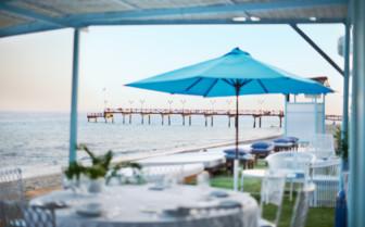 Ocean view from beach club