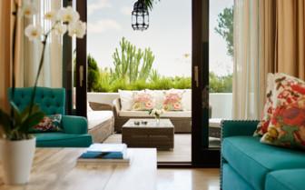 Livingroom area of the suite