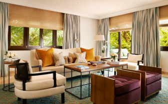 The living room of the suite