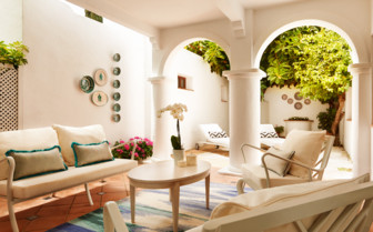Patio of the suite at Marbella Club