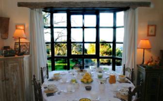 Breakfast table at La Almuna, luxury hotel in Spain