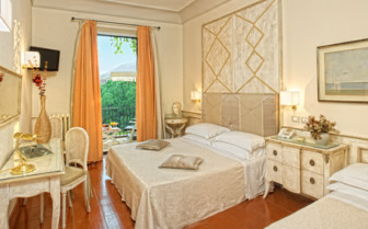 Bedroom with terrace at Villa Belvedere