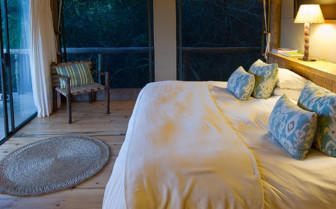 Bedroom at Rocktail Beach Camp, luxury hotel in South Africa