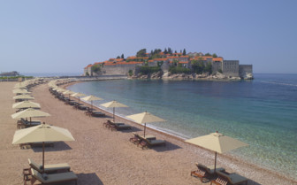 Beach at Aman Sveti Stefan hotel