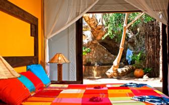 Clourful suite at Fumba Beach Lodge