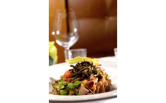 Dinner plate at the restaurant
