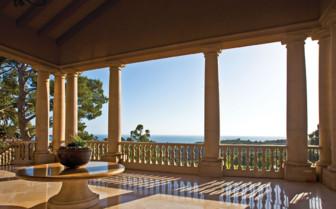 View from hotel verandah