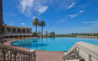 Pool at The Resort at Pelican Hill, luxury hotel in Los Angeles