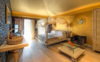 Large bedroom at Forza Mare, luxury hotel in Montenegro