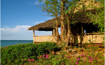 Picture of the Lodge by sunset at Chole Mjini
