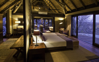 Double bedroom at Little Ongava, luxury camp in Namibia
