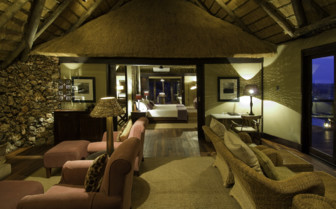 Lounge area at Little Ongava Suite