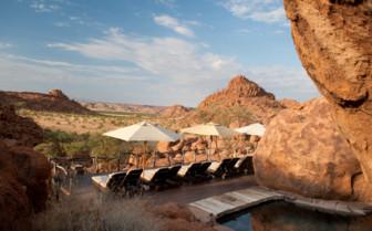 The terrace at Mowani camp