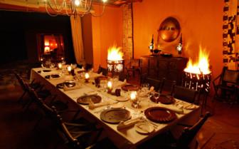 Dining at Okahirongo Elephant Lodge