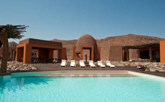 The pool at Okahirongo Elephant Lodge, luxury lodge in Namibia