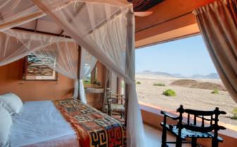 Luxury bedroom at Okahirongo Elephant Lodge