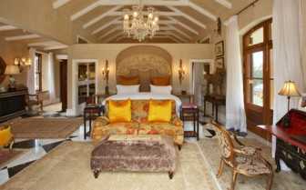 Bedroom at La Residence, luxury hotel in South Africa