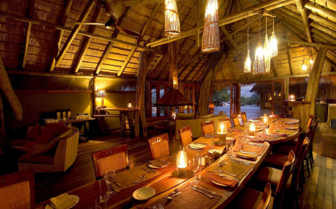 Dining at Serra Caferma, luxury camp in Namibia