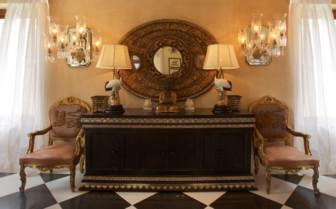 Interior design details at La Residence hotel
