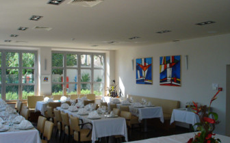 The indoor restaurant at Hotel Indijan, luxury hotel in Croatia