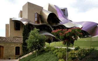 Exterior design at Hotel Marques de Riscal