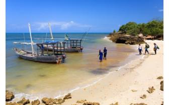 Boats at Fumba Beach Lodge, luxury lodges in Tanzania