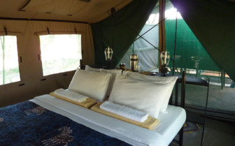 Double bedroom at the camp