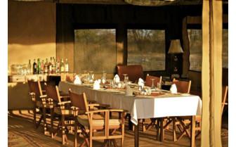 The restaurant at Manyara Ranch, luxury ranch in Tanzania