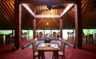Restaurant at Neeleshwar Hermitage, luxury hotel in India