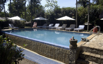 The swimming pool at Shalimar Spice Garden