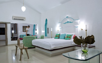 Bedroom at Purity, luxury hotel in India