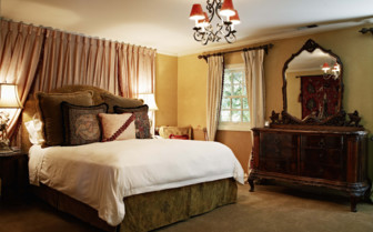 Luxury bedroom suite at Kenwood Inn, luxury hotel in Napa & Sonoma Valley