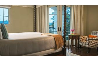 Bedroom at Canary Hotel, luxury hotel in Santa Barbara