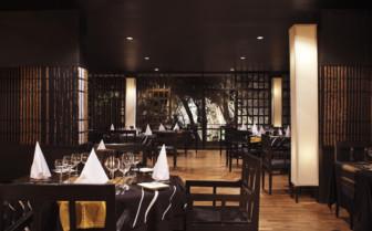 The restaurant at Kandalama hotel