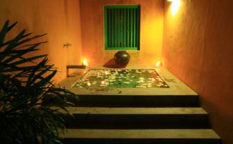 The spa pool at The Last House, luxury hotel in Sri Lanka