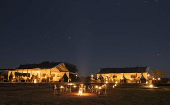The camp at night