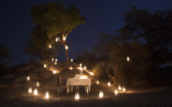 Private dining at Jawai Leopard Camp, luxury camp in India