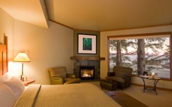 Bedroom at Wikaninnish Inn, luxury hotel in British Columbia, Canada