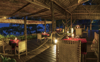 Picture of the dining area at Pole Pole, luxury hotel in Africa