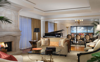 Large suite at Beverly Hills Hotel, luxury hotel in Los Angeles