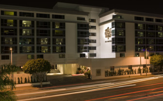 Exterior at SLS Beverly Hills, luxury hotel in Los Angeles