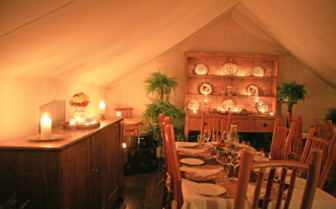 Dining room tent at Clayoquot  Wilderness Resort