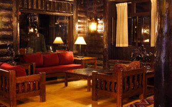 The lounge area at El Tovar, luxury hotel in the Great American Wilderness