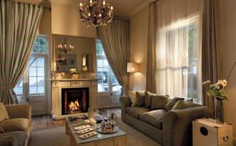 The main lounge at Cape Cadogan hotel