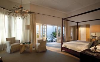 Large bedroom at Cape Cadogan hotel