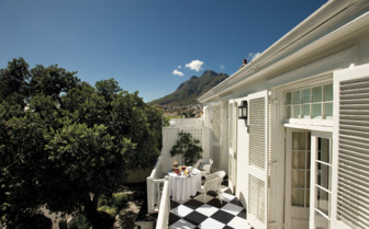 Balcony at the luxury room at Cape Cadogan, luxury hotel in Cape Town, South Africa