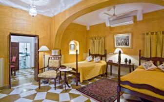 Deluxe bedroom at Samode Haveli