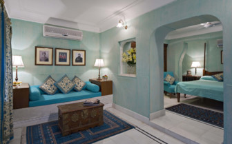 Deluxe suite at Samode Haveli, luxury hotel in India