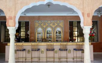 The pool bar at Samode Haveli hotel